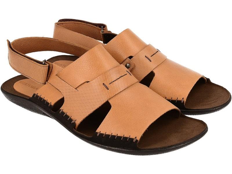 Lekkie sandały męskie, RUDE, naturalna skóra licowa