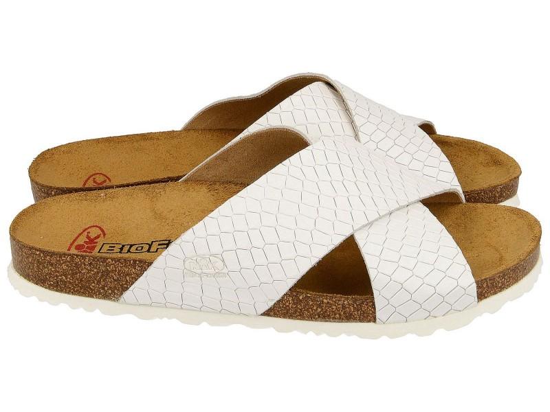 sandały korkowe z ukosnym paskiem