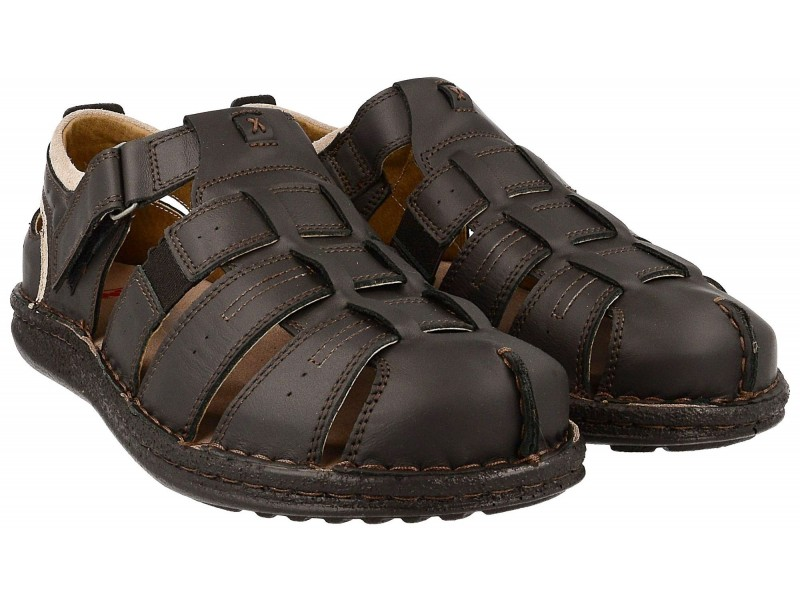 Kolekcja 2019   Komfortowe sandały męskie, naturalna skóra