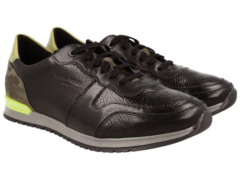 nikbuty.pl | Sportowe sneakersy męskie, CZARNE, naturalna skóra