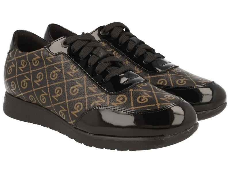 Sneakersy / Sportowe Sneakersy damskie, CZARNE, naturalna skóra