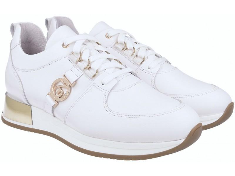 Sneakersy, Damen, GRAU, echtes Leder