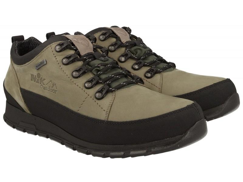 Męskie buty trekkingowe NIK - kolor JASNA OLIWKA - membrana Sympatex®