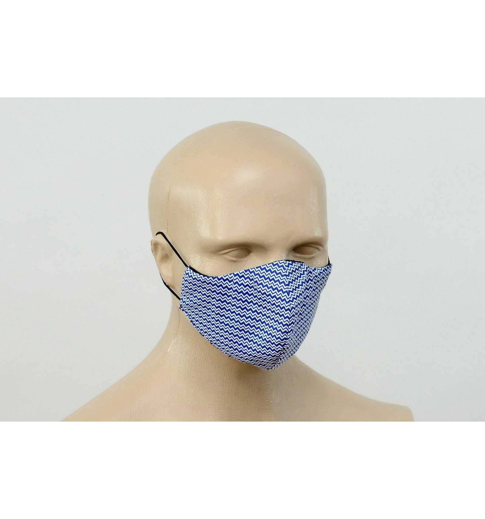 Bawełniana maska PROFI - NIEBIESKA