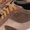 Sneakersy damskie ,BRĄZOWE, naturalna skóra