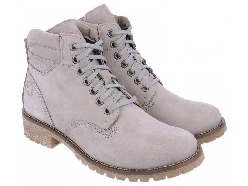 nikbuty.pl | Klasyczne damskie buty zimowe, SZARE, naturalna