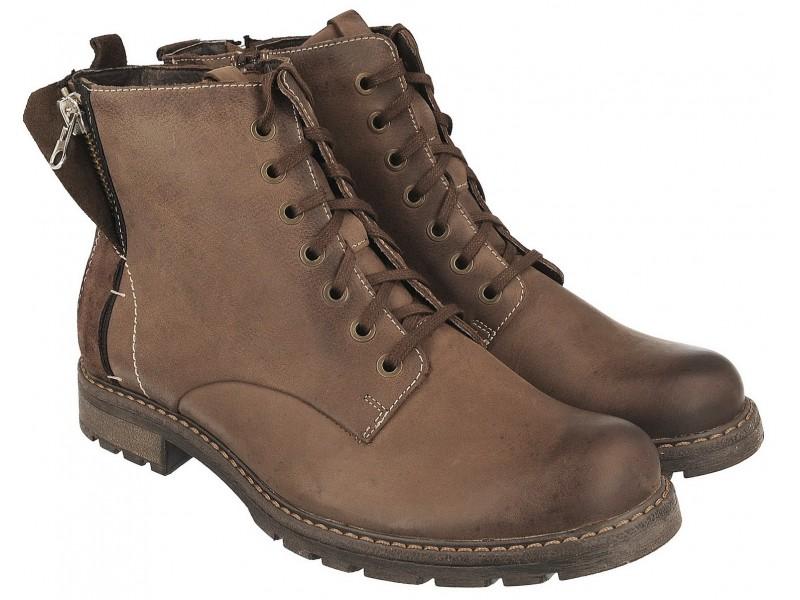 nikbuty.pl   trapery męskie  Klasyczne zimowe buty męskie NIK -