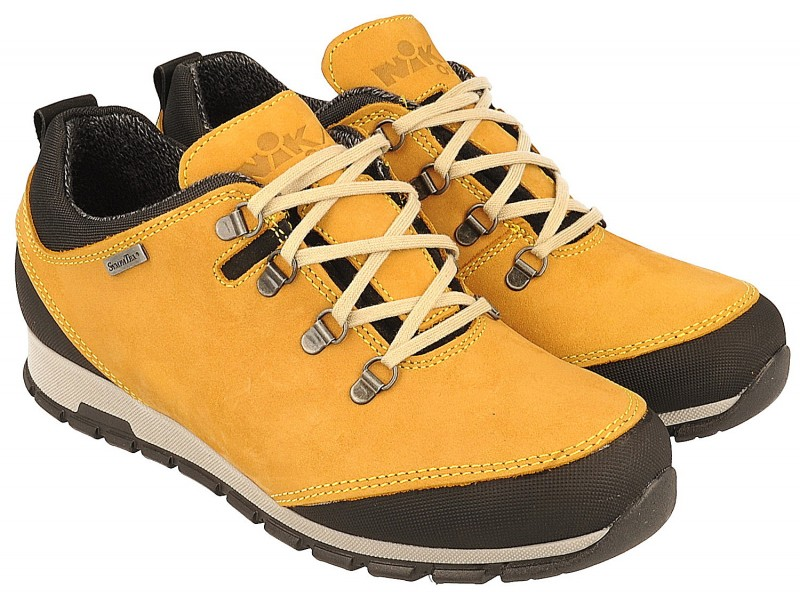 Women's hiking boots, YELLOW, genuine leather, breathable membrane Sympatex