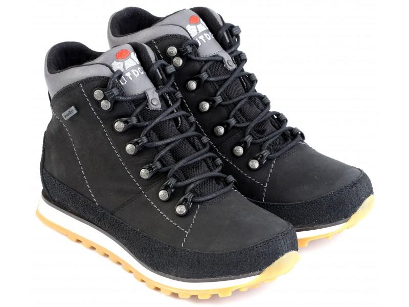 buty trekkingowe damskie | Buty trekkingowe młodzieżowe, CZARNA