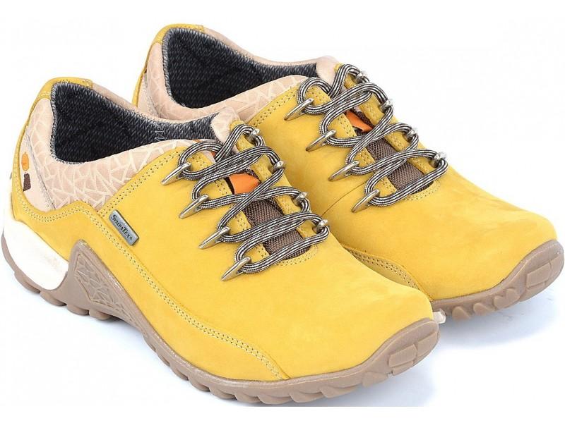 Młodzieżowe półbuty trekkingowe NIK  - Żółte - Sympatex