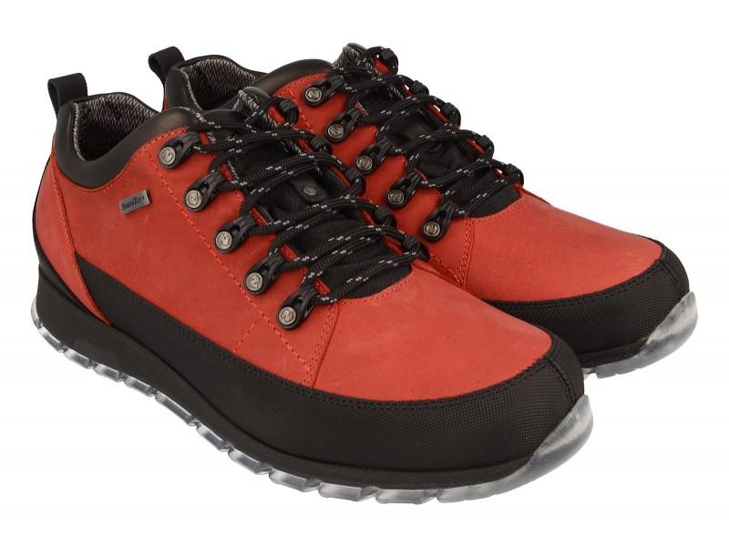 Buty trekkingowe | Męskie półbuty trekkingowe NIK - Czerwone -