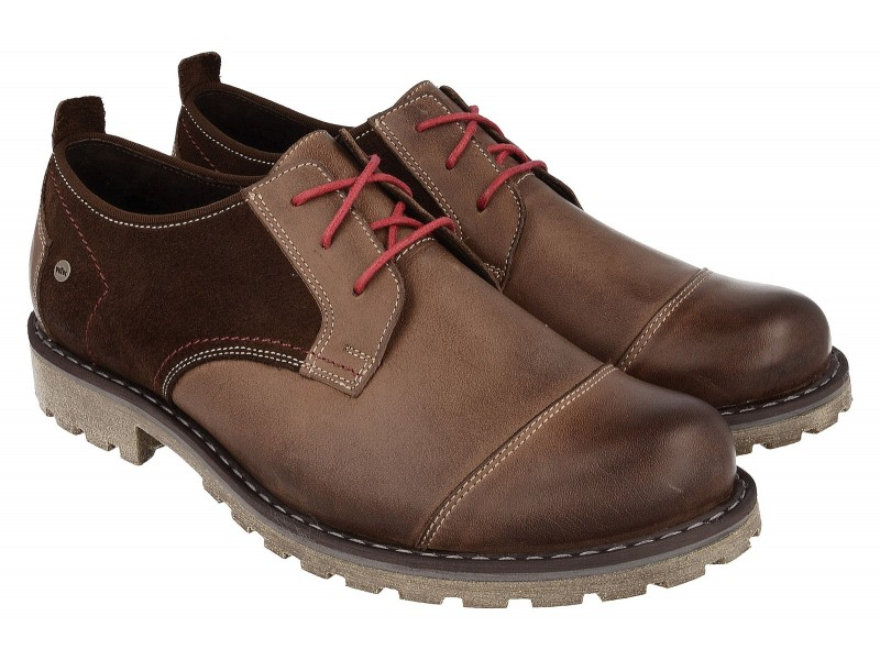 Winter Schuhe mit dicken geprägter Sohle| Schuhe NIK Giatoma Niccoli Braun