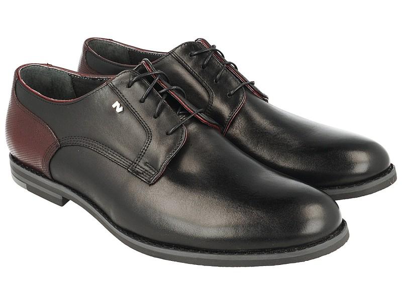 nikbuty.pl | Smart shoes męskie, CZARNE, naturalna skóra licowa