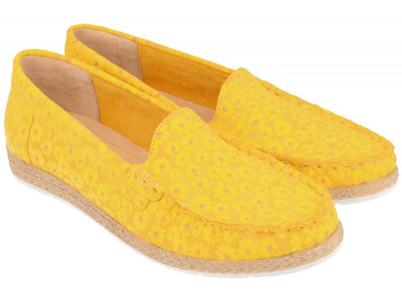 Mokasyny NIK Giatoma Niccoli - Żółte