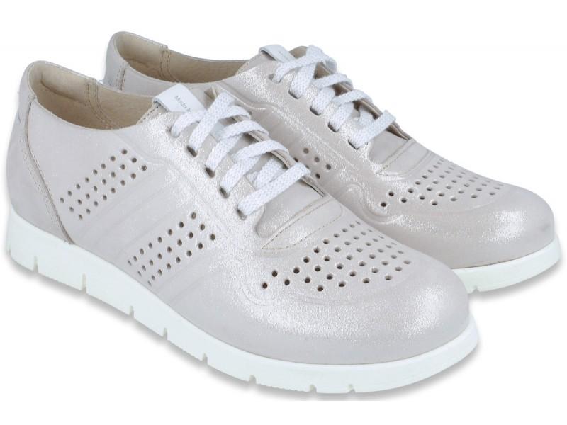 Sneakersy damskie, JASNY RÓŻ, naturalna skóra licowa, super lekkie