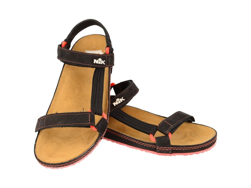 Sandals women's, BLACK, genuine leather, the contribution of