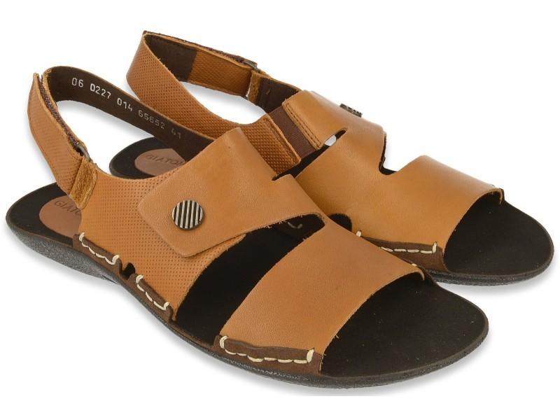 0e548a3503648 Kup Lekkie sandały męskie, RUDE, naturalna skóra licowa, miękka