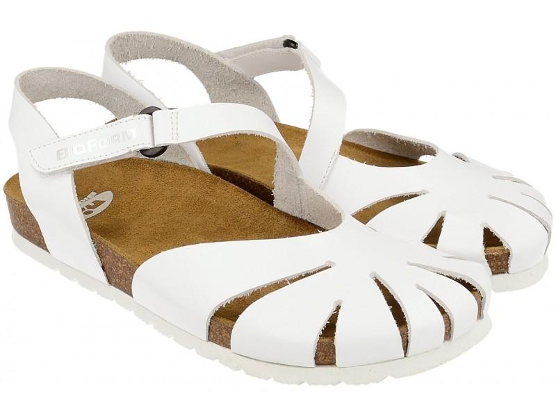 Sandały NIK Bio Form - Białe - Fussbett - Zakryte palce