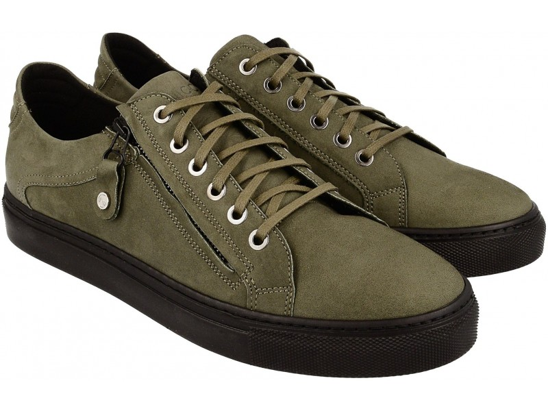 Sneakersy NIK Giatoma Niccoli - OLIWKOWE nubuk art. 03-0916-02-8-18-02