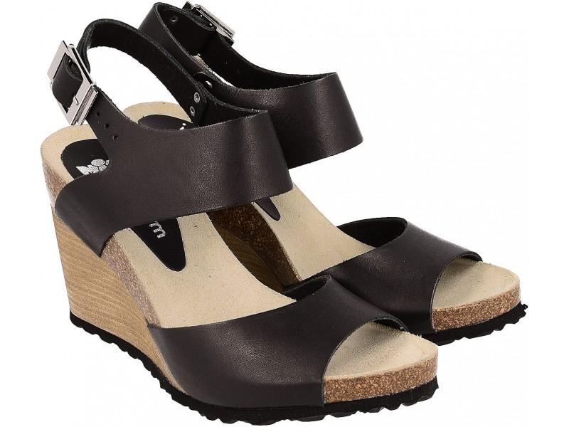 Buy trendy women's wedge Sandals, BLACK