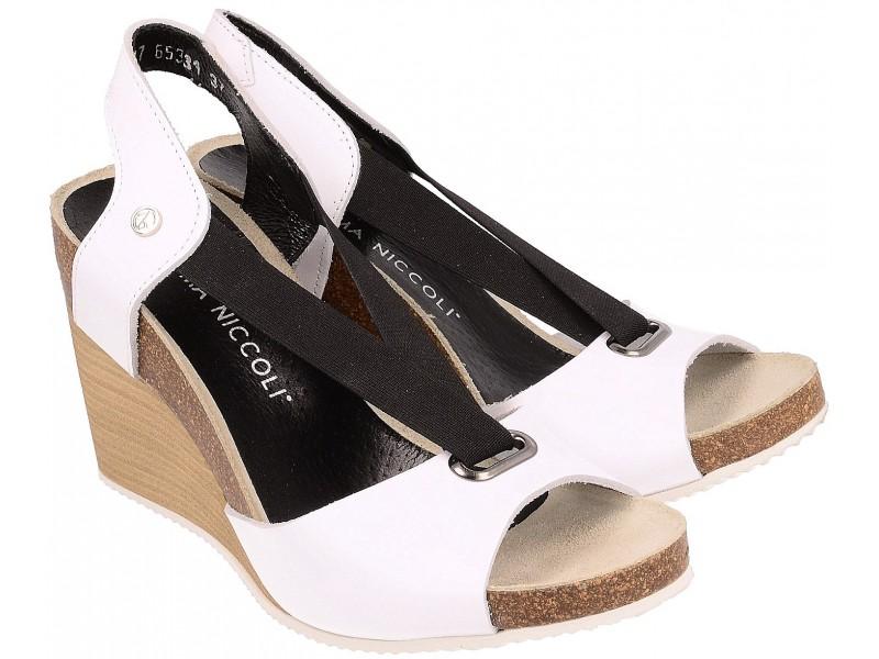 Damskie Sandały Na Koturnie