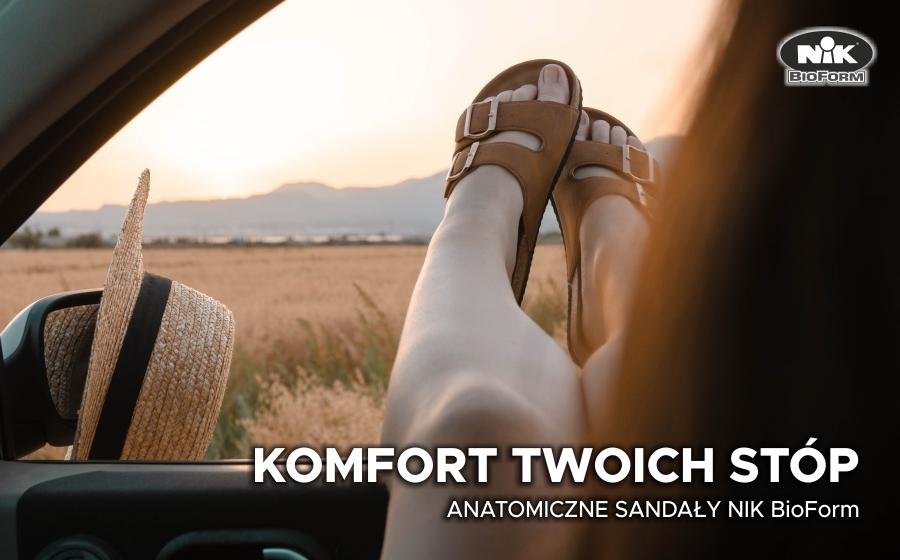 Anatomiczne sandały NIK BioForm